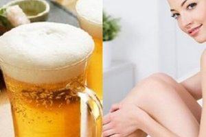 Tắm trắng cấp tốc bằng bia