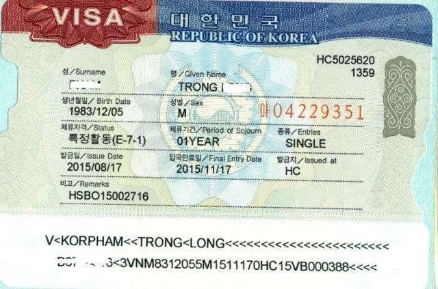 Visa E7 Hàn Quốc là gì? Điều kiện để được cấp visa E7?